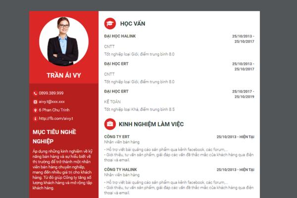 Hướng dẫn tạo CV trực tuyến miễn phí trên web ViecNgon.com